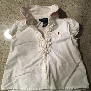 Adorable Ralph Lauren white button down shirt
